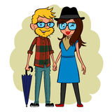 Hipsters couple Stock Photography