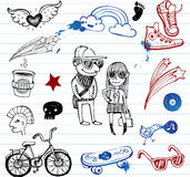 Hipsters doodles Stock Image