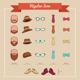 Hipsters icons Royalty Free Stock Photography