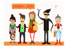 Hipsters реорle Stock Images