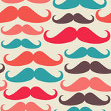 Hipsters mustache seamless pattern Royalty Free Stock Image