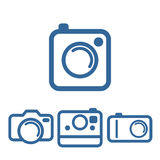 Hipsters photo camera icons Stock Image