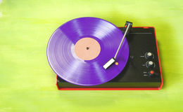 Hipsters retro turntable Royalty Free Stock Image