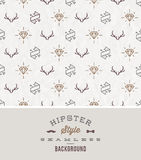 Hipsters seamless background Royalty Free Stock Photos