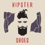 Hipsterschoenen De schoenen van mensen Vector illustratie Royalty-vrije Stock Fotografie