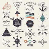 Hipsterstilbeståndsdelar Arkivfoton