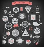 Hipsterstilbeståndsdelar och symboler Arkivfoton