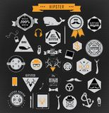 Hipsterstilbeståndsdelar och symboler Arkivfoto