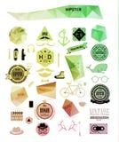 Hipsterstilbeståndsdelar, symboler och etiketter Royaltyfri Fotografi