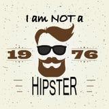 HipsterT-tröjadesign, Retro stil, typografi Arkivfoto