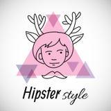 Hipsterteckendesign Royaltyfri Illustrationer