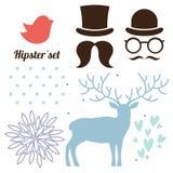 Hipsteruppsättning vektor illustrationer
