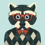 Hipsterwasbeer stock illustratie