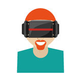 Hipter man virtual reality glasses technology new Stock Photography