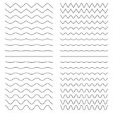 Hiqh quality set of zigzags Stock Photos
