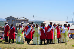 Hira gasy, malgasza na wolnym powietrzu śpiewu tradycyjny przedstawienie Obraz Royalty Free