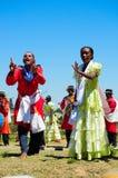 Hira het gasy, Van Madagascar traditionele openlucht toont zingen Royalty-vrije Stock Fotografie