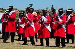 Hira het gasy, Van Madagascar traditionele openlucht toont zingen Royalty-vrije Stock Foto