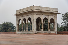 The Hira Mahal is a pavilion in the Red Fort in Delhi. It is a four-sided pavilion of white marble. Royalty Free Stock Images