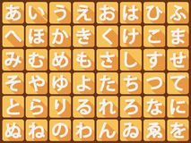 Hiragana flat vector Royalty Free Stock Photos