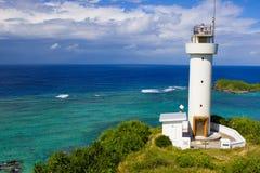 Hirakubo lighthouse, Ishigaki island, Okinawa. royalty free stock images