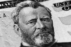 Hiram Ulysses Grant-Porträt von uns 50 Dollar Lizenzfreie Stockbilder