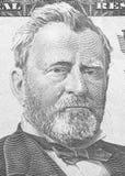 Hiram Ulysses Grant stående från oss 50 dollar Arkivfoto