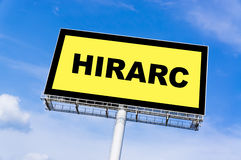 HIRARC sign billboard Royalty Free Stock Image