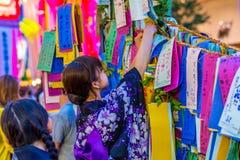 Hiratsuka Tanabata festival Arkivbild