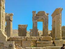 Hiraz, PERSEPOLIS, ИРАН, губит церемониальной столицы персидской империи Achaemenid империи стоковое изображение