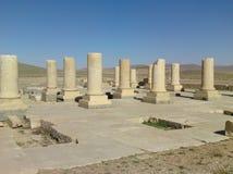 Hiraz, PERSEPOLIS, IRAN, Ru?nes van het plechtige kapitaal van het Perzische Imperium van Imperiumachaemenid stock foto