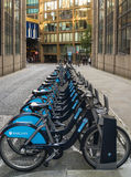Hire bicycles in central London Royalty Free Stock Photography