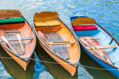 Hire boats on a river Stock Image