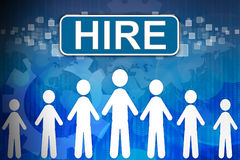Hire ,Business concept Human resources Royalty Free Stock Photography