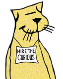 Hire the Curious royalty free illustration