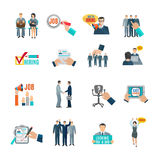 Hire Flat Icons Set Stock Photos