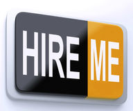 Hire Me Button Shows Employment Online Stock Images