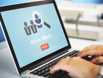 Hire Me Career Employment Hiring Occupation Concept Stock Images