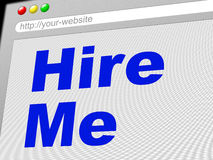 Hire Me Shows Job Application And Employment Stock Photo
