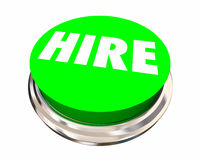 Hire New Employee Job Candidate Opening Button Stock Photos