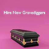 Hire new gravediggers Royalty Free Stock Photos