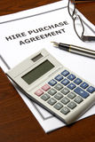 Hire Purchase Agreement Royalty Free Stock Images