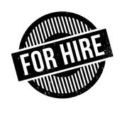 For Hire rubber stamp. Grunge design with dust scratches. Effects can be easily removed for a clean, crisp look. Color is easily changed Stock Photo