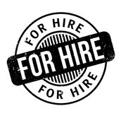 For Hire rubber stamp. Grunge design with dust scratches. Effects can be easily removed for a clean, crisp look. Color is easily changed Royalty Free Stock Photo