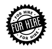 For Hire rubber stamp. Grunge design with dust scratches. Effects can be easily removed for a clean, crisp look. Color is easily changed Royalty Free Stock Photos