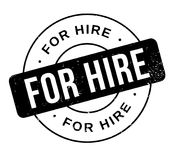 For Hire rubber stamp. Grunge design with dust scratches. Effects can be easily removed for a clean, crisp look. Color is easily changed Royalty Free Stock Images
