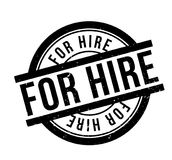 For Hire rubber stamp. Grunge design with dust scratches. Effects can be easily removed for a clean, crisp look. Color is easily changed Stock Photos