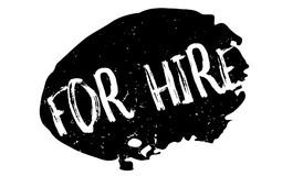 For Hire rubber stamp. Grunge design with dust scratches. Effects can be easily removed for a clean, crisp look. Color is easily changed Royalty Free Stock Photography