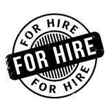 For Hire rubber stamp Stock Images