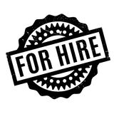 For Hire rubber stamp Royalty Free Stock Photography